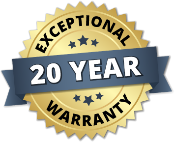 Exceptional 20 Year Roofing Warranty